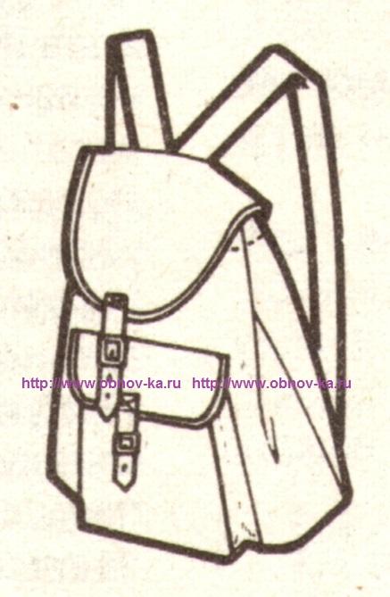 Рюкзак своими руками эскиз
