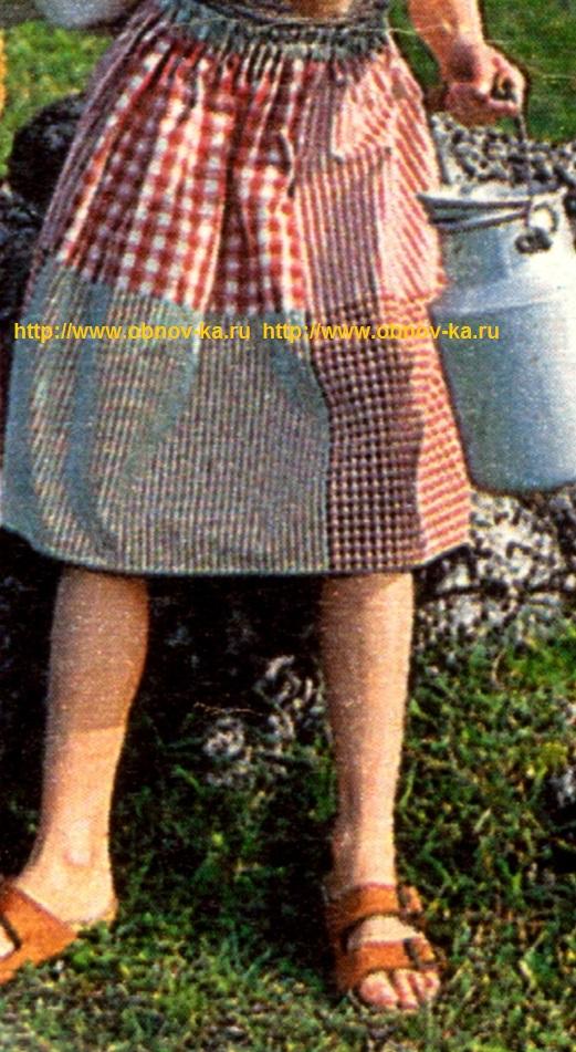 Юбка для девочки в стиле пэчворк
