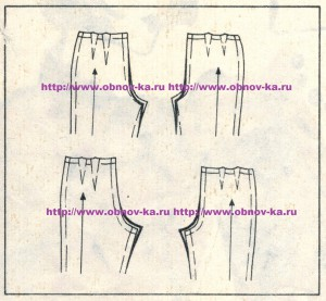 Корректировка выкройки брюк 6