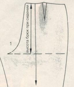 Коррекция брюк 1
